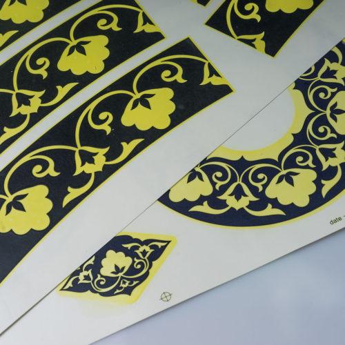 Печать деколи в листах